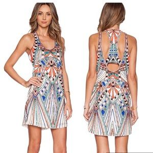 Parker Ramsay Colorful Beaded Dress